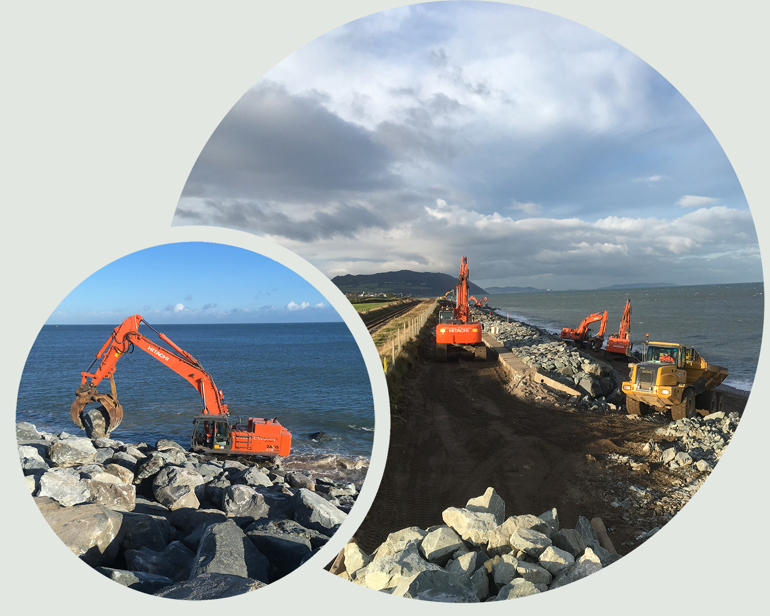 Repairing Coastal Defences between Dublin and Rosslare