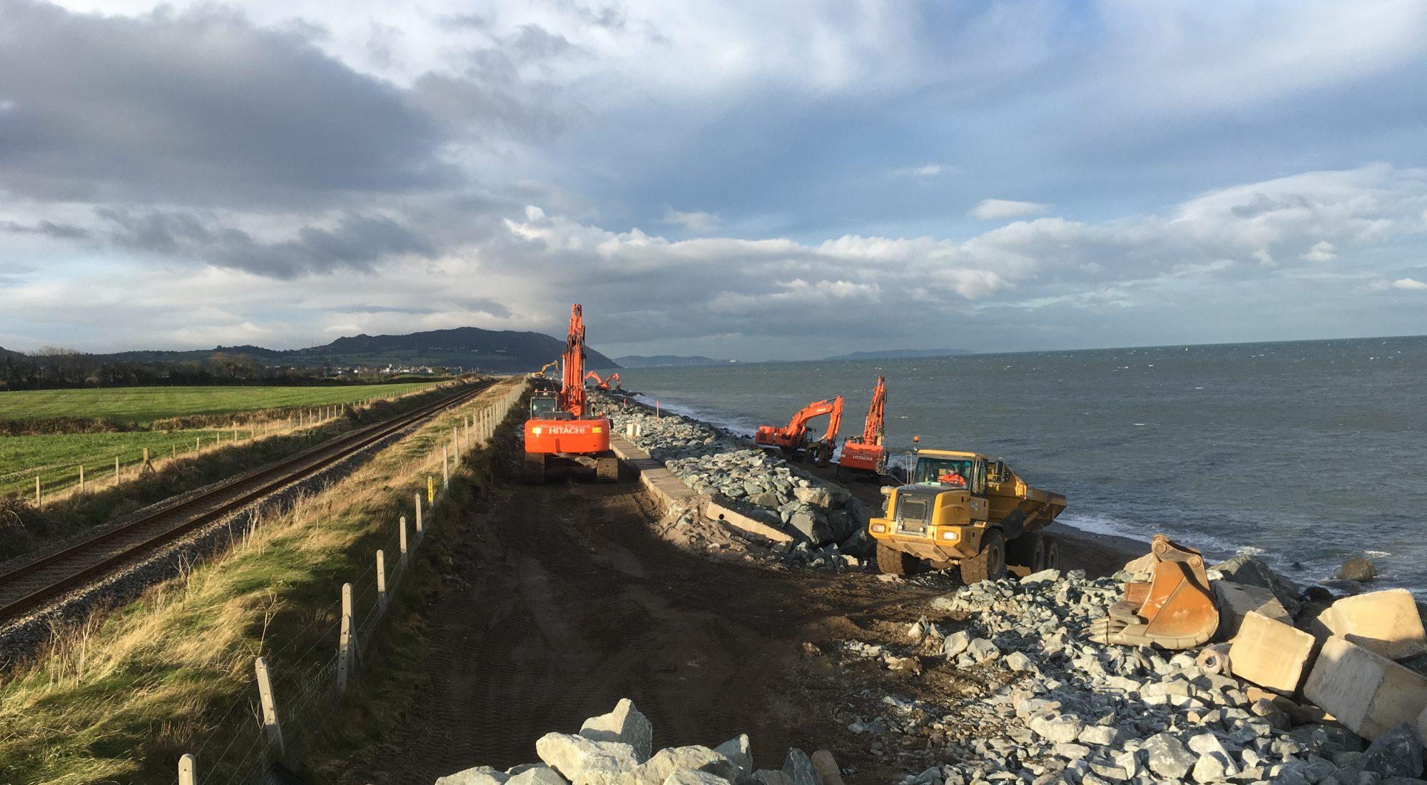 Repairing Coastal Defences between Dublin and Rosslare